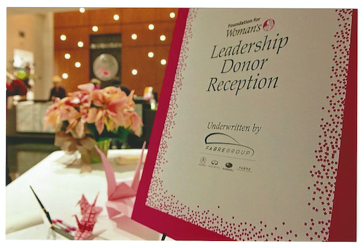 Foundation for Women Reception