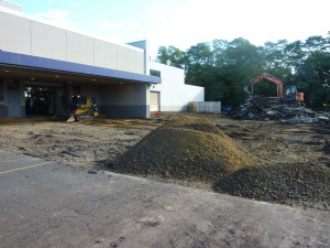 removing asphalt for building expansion