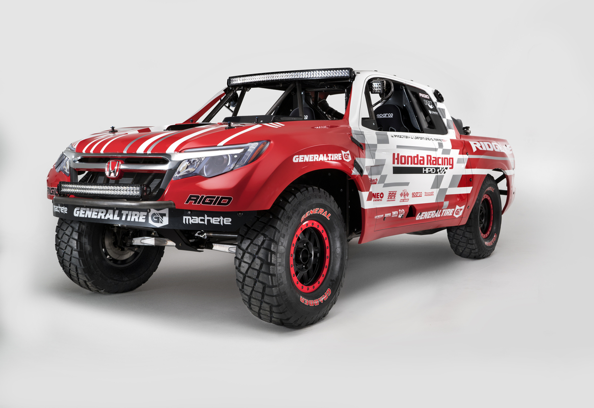 Honda Ridgeline Off Road >> Honda Baja Race Truck Hints At 2017 Honda Ridgeline Styling
