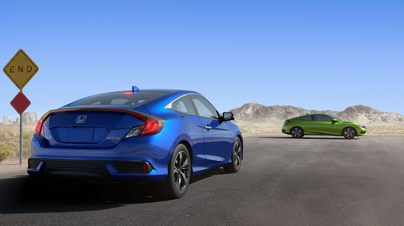 2016 Honda Civic Coupe Exterior Rear