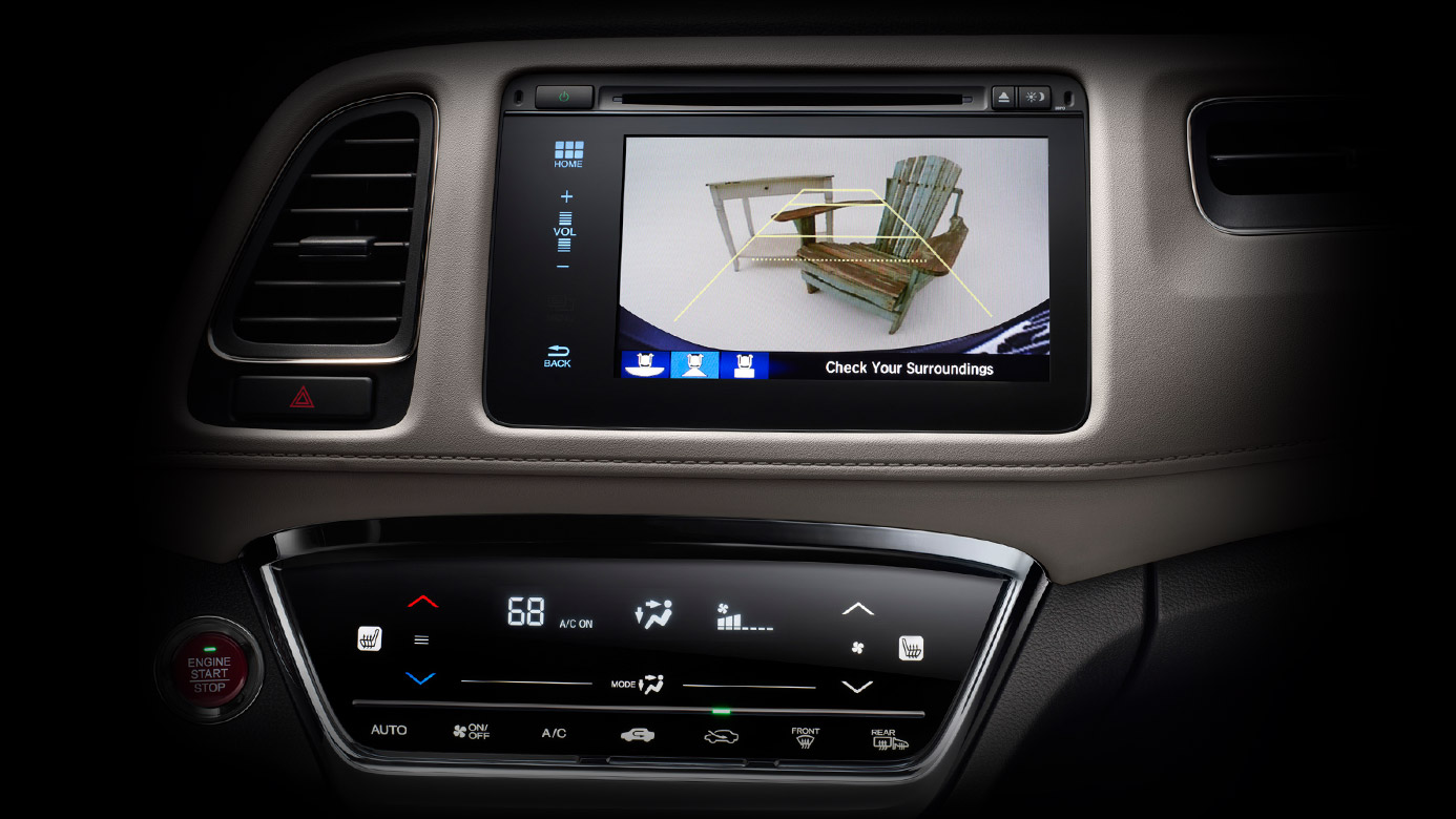 Touchscreen audio display of the 2016 Honda HRV