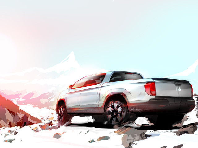Preview Sketch of Next Generation Honda Ridgeline