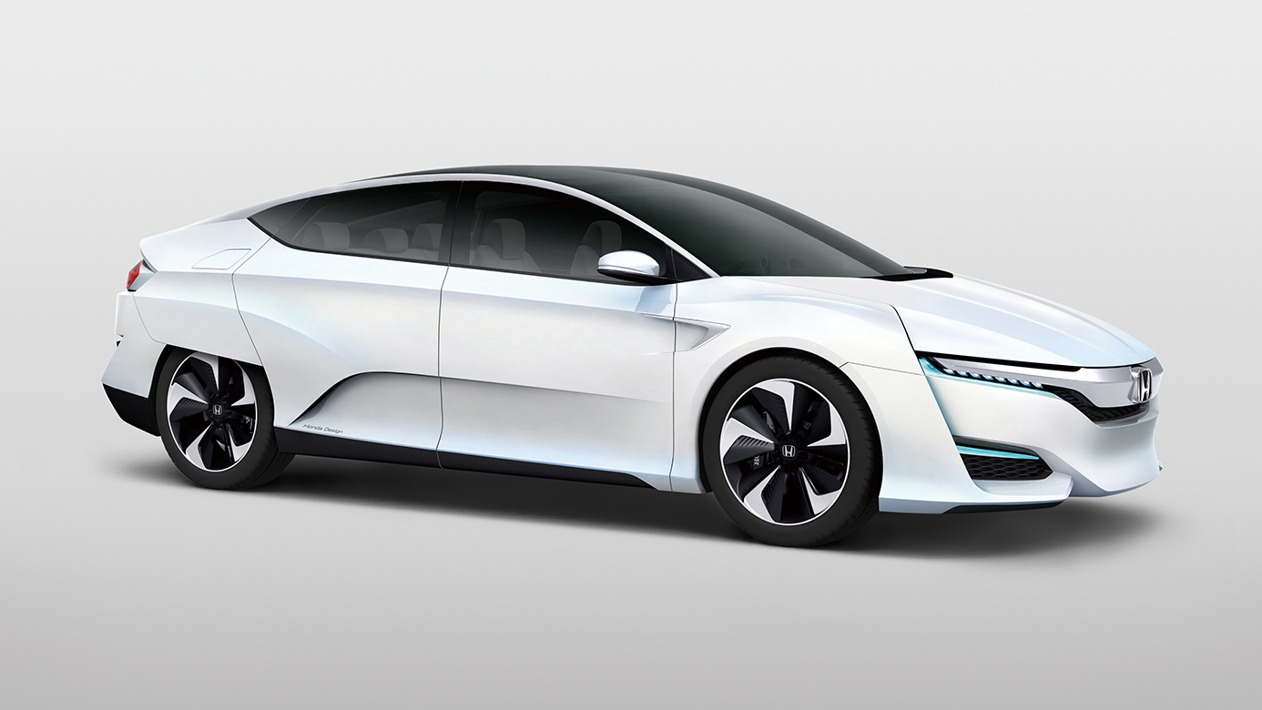 Side exterior view of the Honda FCV Concept car