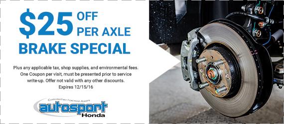 Honda service coupon
