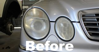 Headlamp Restoration Before