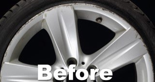 Scraped Wheel Repair Before