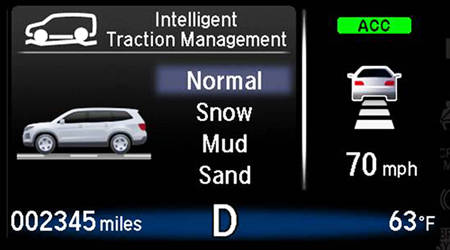 honda pilot intelligent traction mode