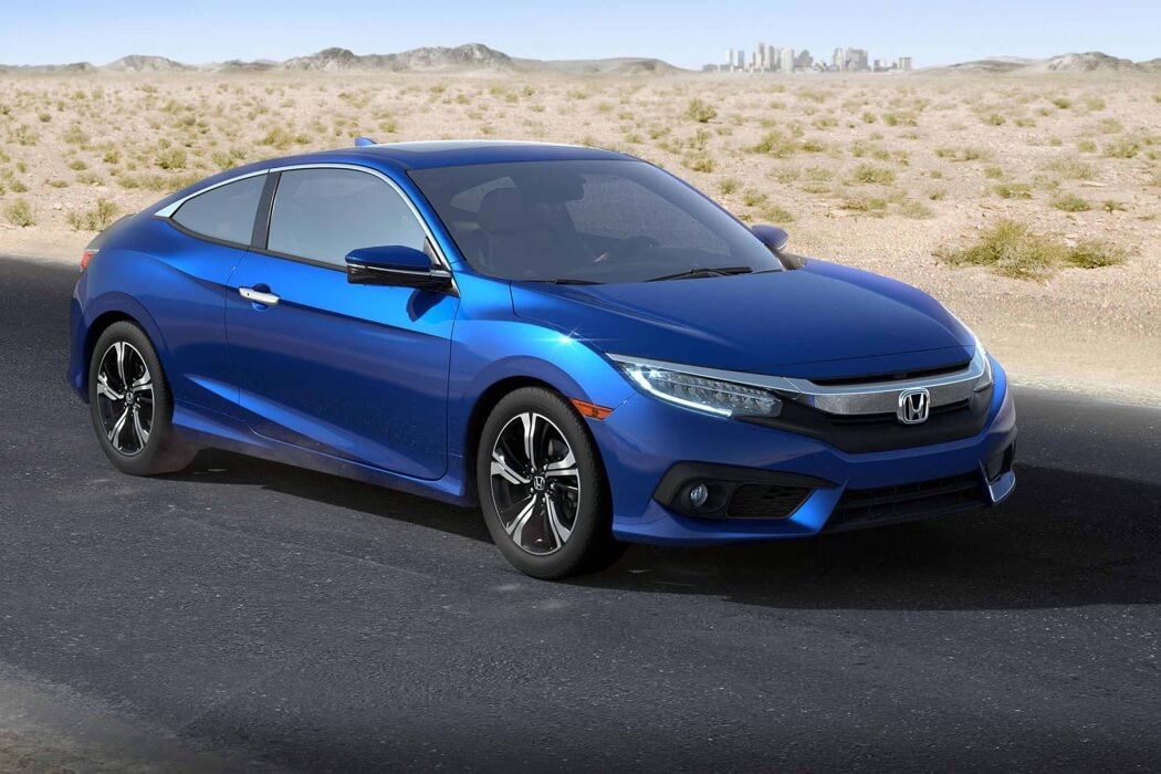 2017 Honda Civic Coupe blue exterior model