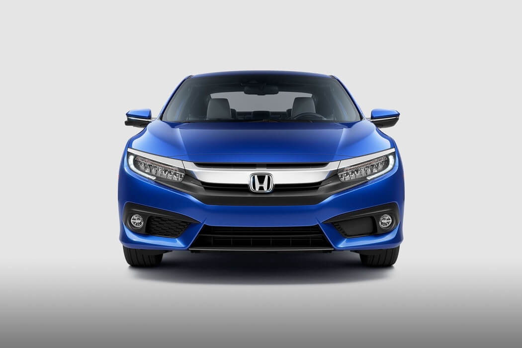 2017 Honda Civic Coupe Price front view blue exterior model
