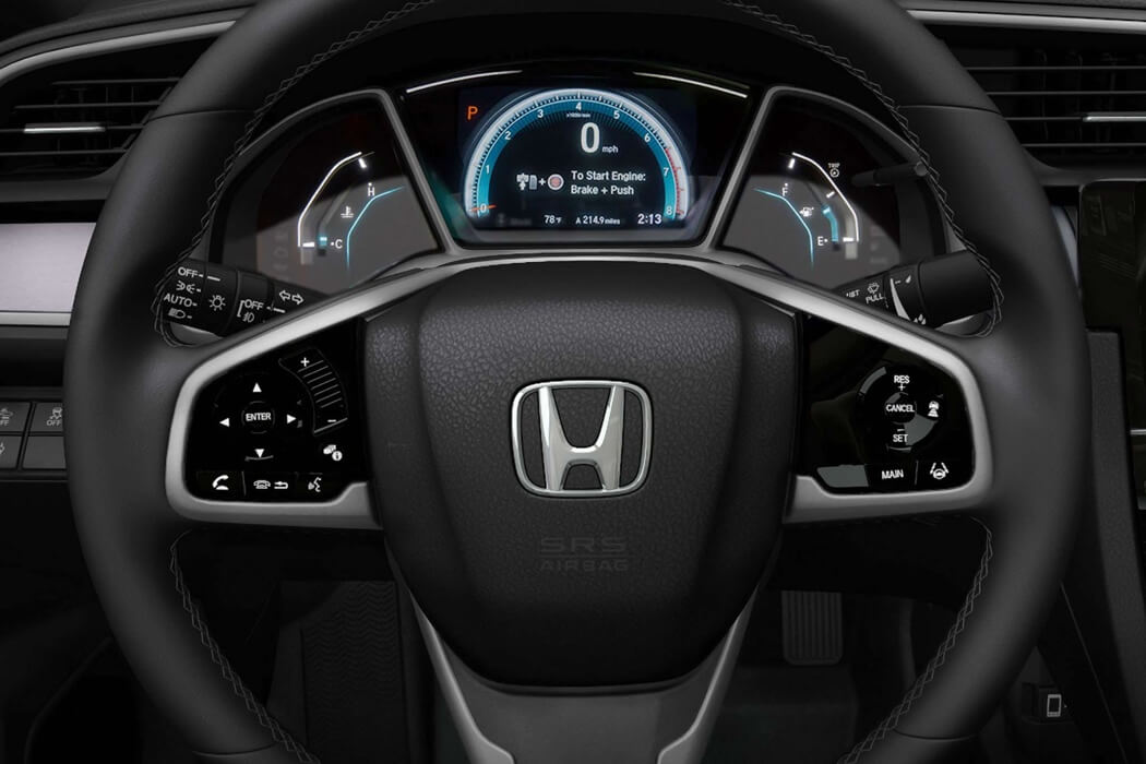 2017 Honda Civic Coupe front interior