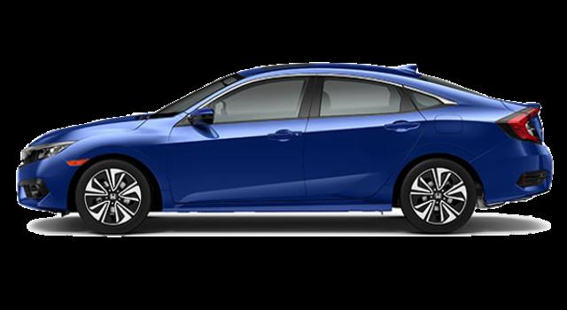 2017 Honda Civic Sedan side view blue exterior model