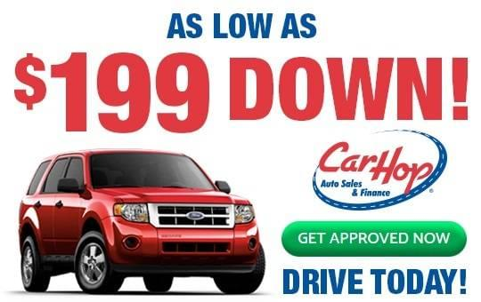 $199 low down payment at CarHop used car Auto Sales