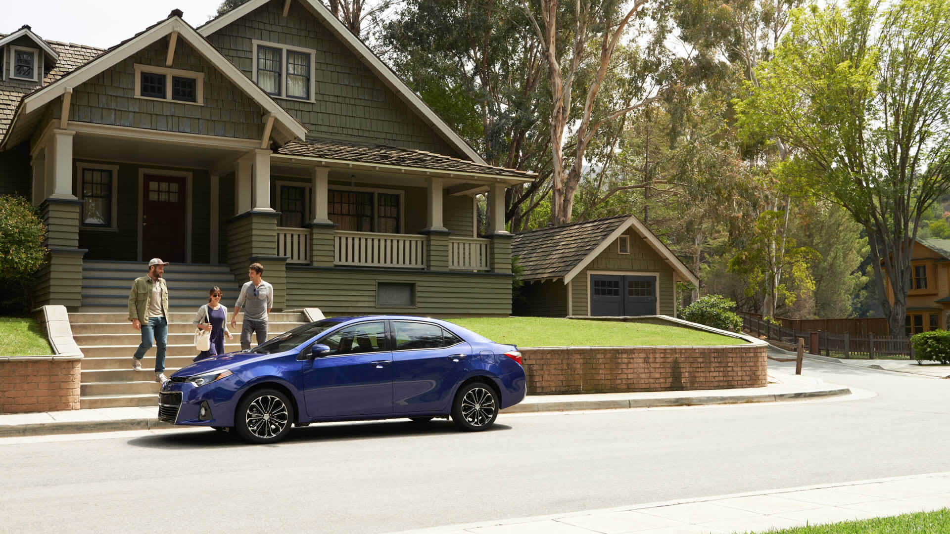 2016 Toyota Corolla blue exterior model parked