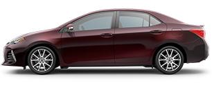 2017 Toyota Corolla Maroon