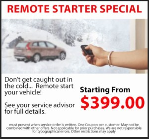 remote starter sale at expressway toyota