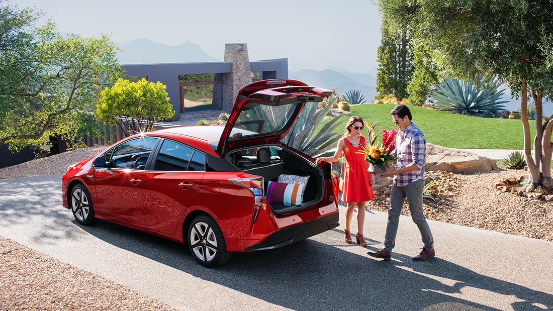 2016 Toyota Prius trunk