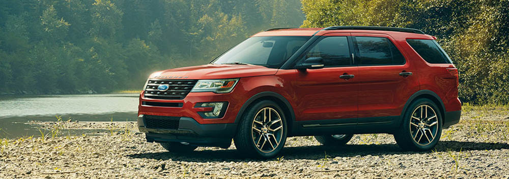 2017 Ford Explorer Red