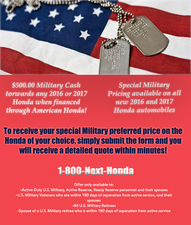 Holmes Honda, Military Offer, Barksdale Airforce Base