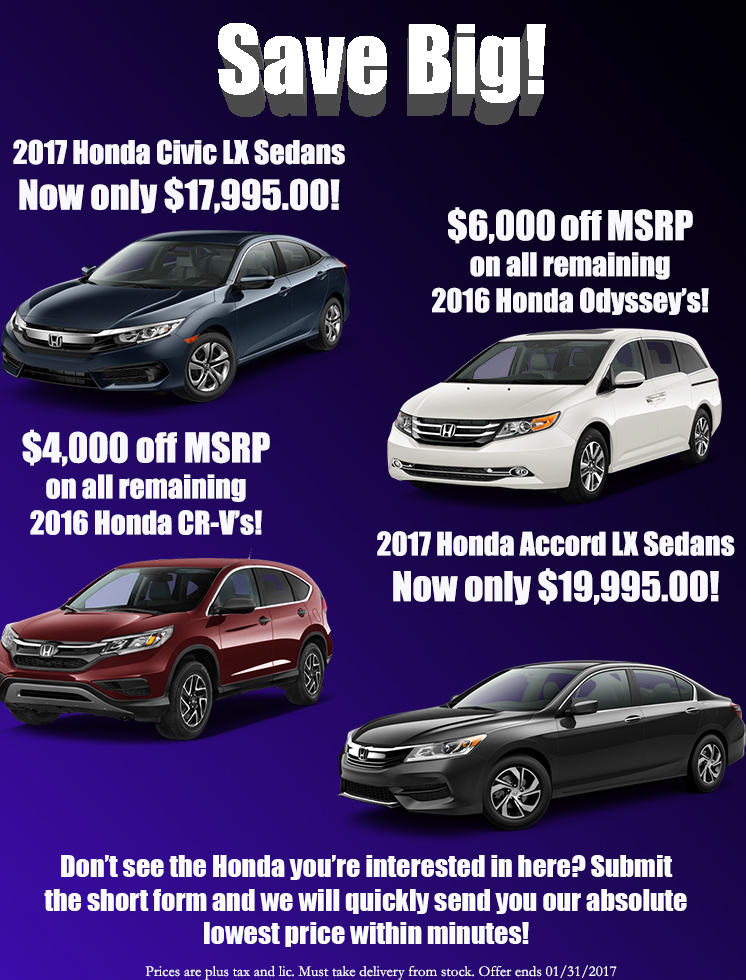 Save Big at Holmes Honda!