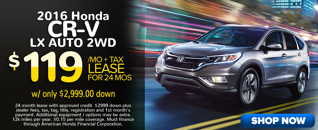 Honda CR V Specials In Miami Florida