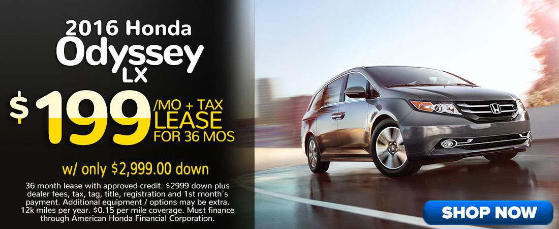 2016 Honda Odyssey Lease Offer