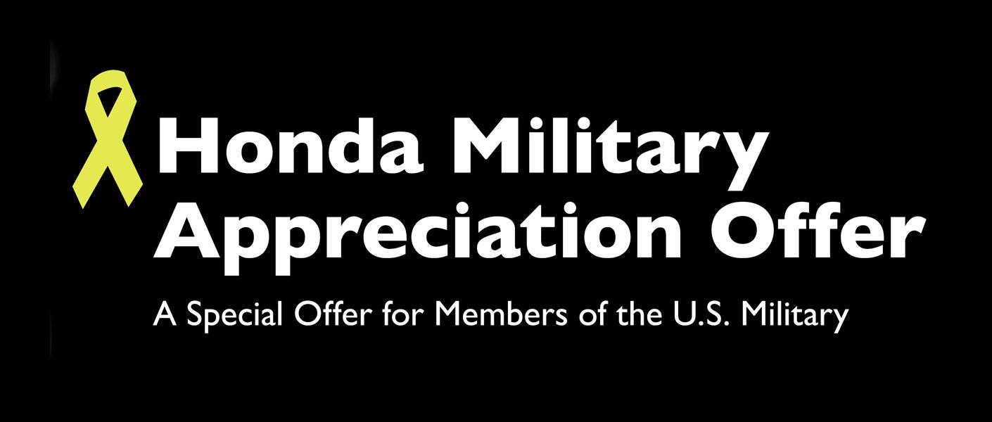 Honda Military Offer Banner