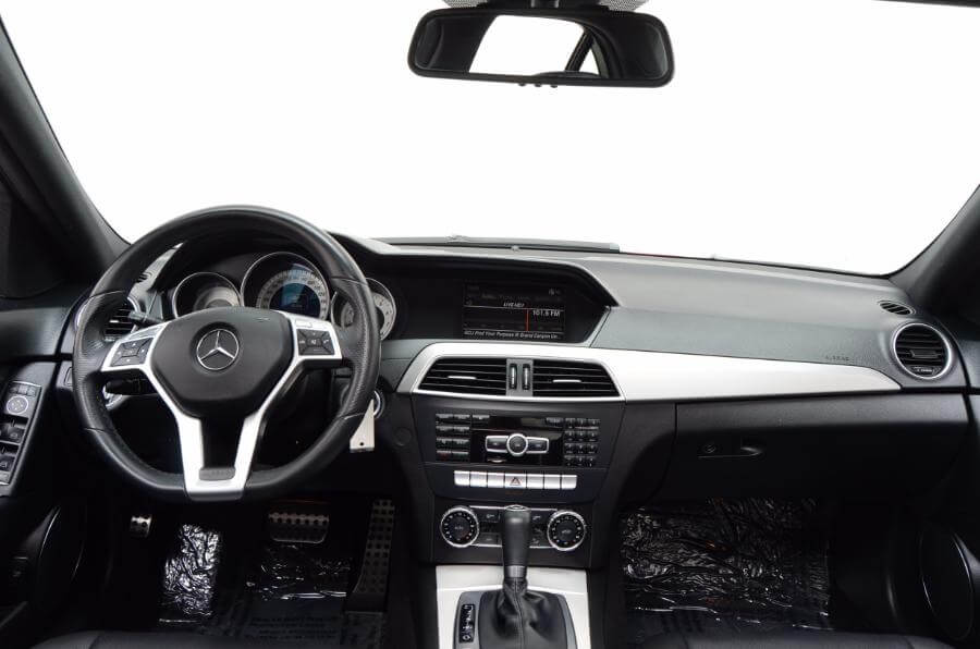 2012 Mercedes C250 Looking Forward From Back