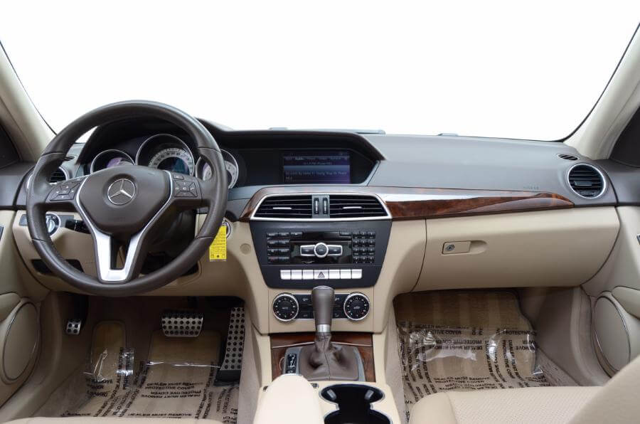 2014 Mercedes C250 Looking Forward From Back