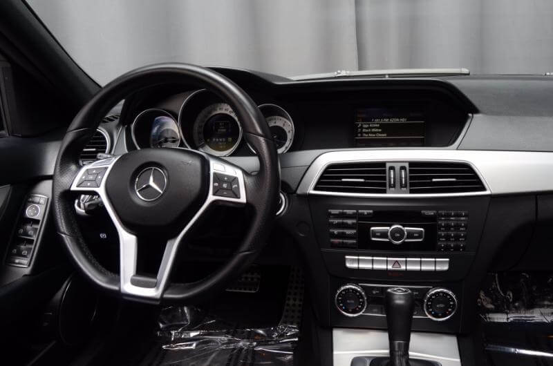 2012 Mercedes C300 Interior Looking Forward From Back