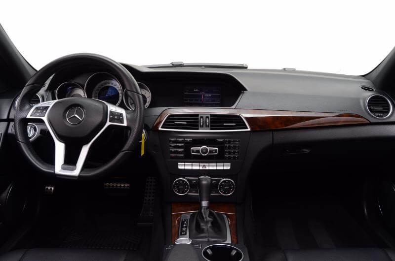 2013 Mercedes C300 Interior From Back Looking Forward