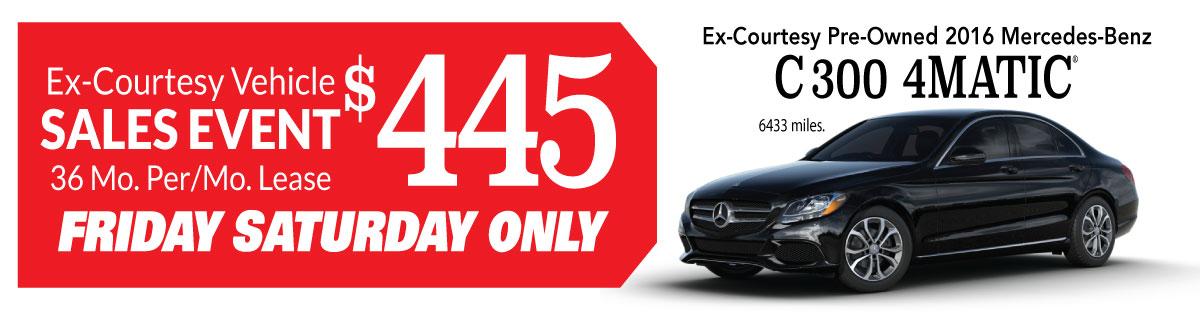 Ex Courtesy Vehicle Sales Event Intercar Inc