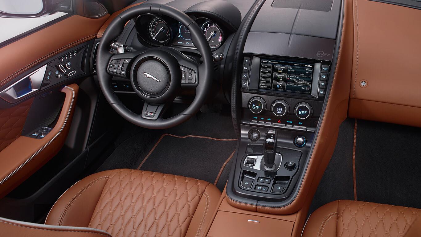 2017 Jaguar F-Type front seats