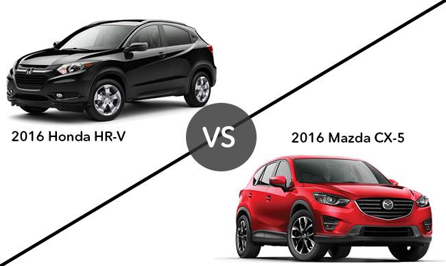 2016 Honda HR-V vs 2016 Mazda CX-5