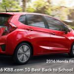 Honda Fit Ranked #1 on 2016 KBB.com best back to school cars list