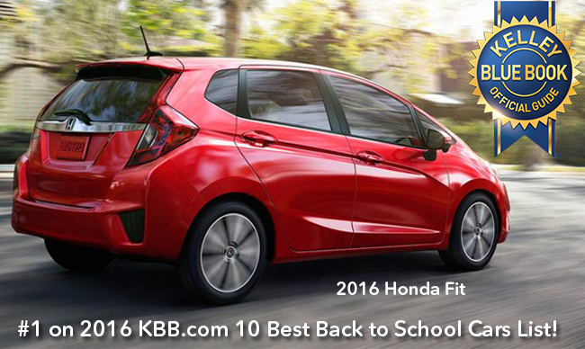 Honda Fit Ranked First On The 2016 KBB 10 Best Back To