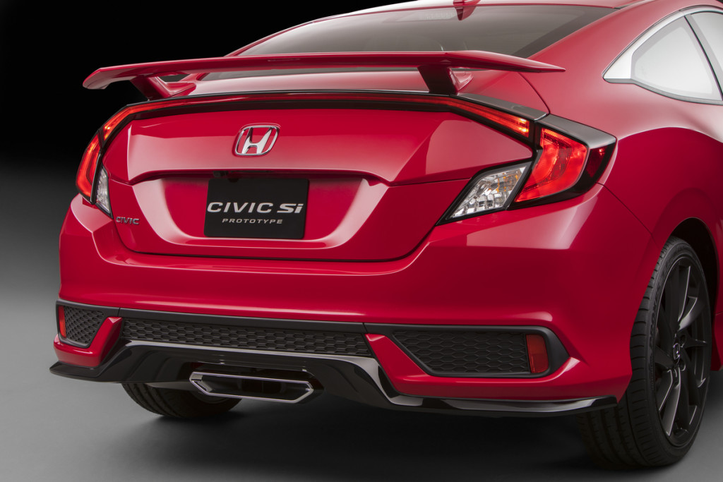 2017 Honda Civic Si Rear Fascia