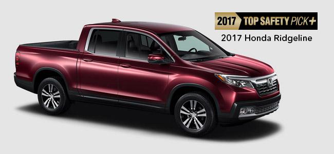 2017 Honda Ridgeline Makes IIHS History