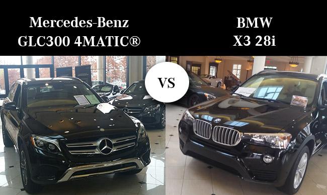 2016 Mercedes-Benz GLC300 vs the BMW X3