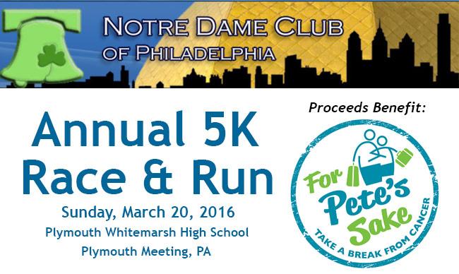 Notre Dame Club of Philadelphia 5K Race & Run 2016