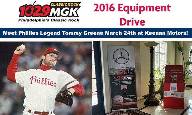 102.9 MGK's Baseball Equipment Drive