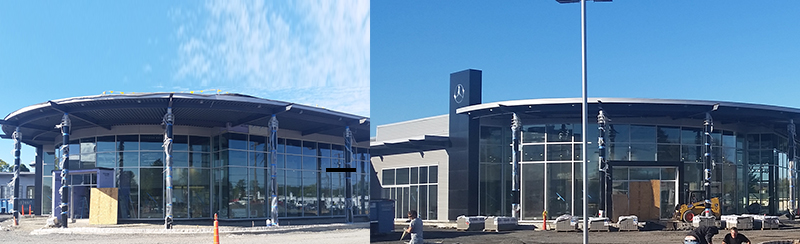 New Keenan Motors Mercedes-Benz Dealership_Blad Wall_Exterior