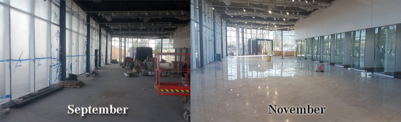 New Keenan Motors Mercedes-Benz Dealership Construction_Showroom