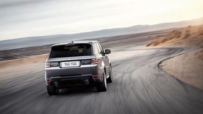2016 Range Rover Sport Silver Rear