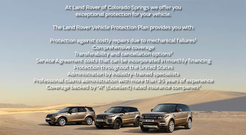Land Rover Protection Plan Warranty Coverage Colorado Springs