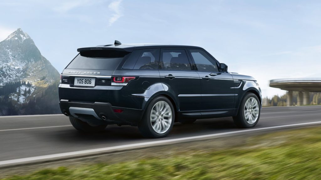 2017 Land Rover Range Rover Sport on the road