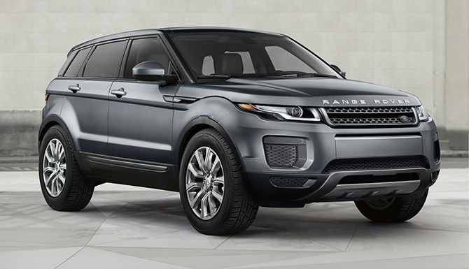 2017 Land Rover Evoque SE parked