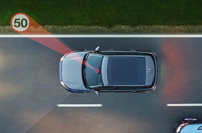 2017 Range Rover Evoque overhead