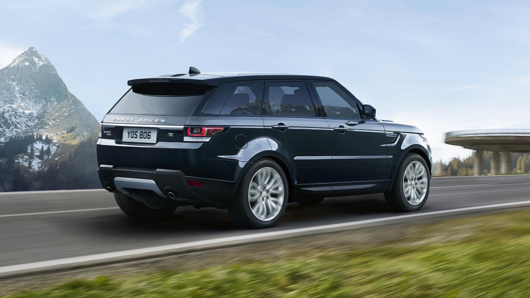 black 2017 Land Rover Range Rover Sport