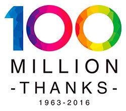 100 million thanks