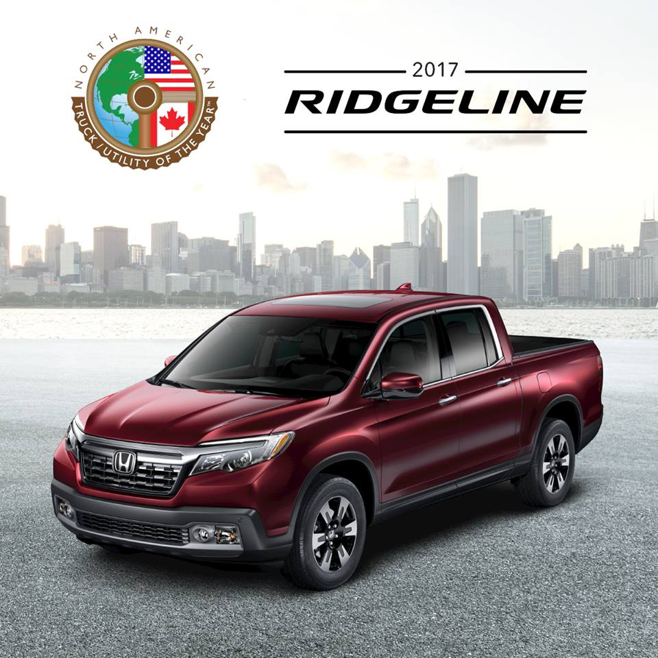 2017 honda ridgeline wins truck of the year award manchester honda. Black Bedroom Furniture Sets. Home Design Ideas